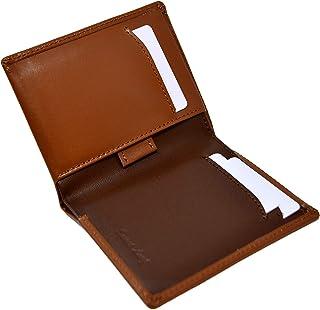 Cartera Billetera Delgada Marrón para Hombre - Cuero Genuino Natural - Bloqueo RFID - 11 Tarjetas de Crédito, Monedero y B...
