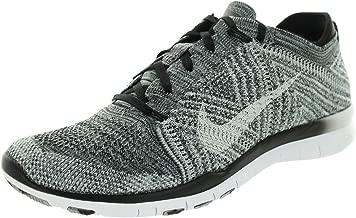 Nike Free 4.0 Flyknit Women's Running Shoes, 10, Black/white/wolf Grey