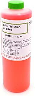 4.00 pH Standard Buffer Solution, Red, 500mL - The Curated Chemical Collection
