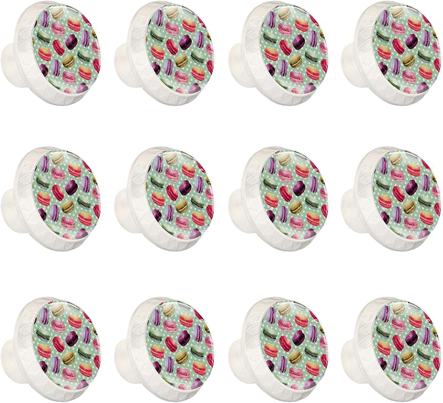 excellence Ranking TOP17 12 Pcs 35MM Crystal Glass Pattern Cabinet Dresser Knobs Macaron