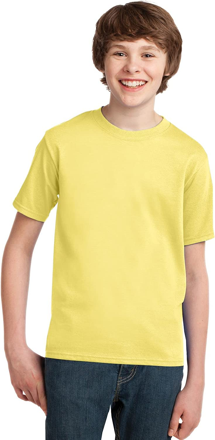 Port and Company PC61Y Youth Essential T-Shirt Yellow Small