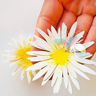 Bellis perennis - Orecchini ape - Orecchini fiore con ape - Gioielli di tendenza - Gioielli fiore margherita - Orecchini a...