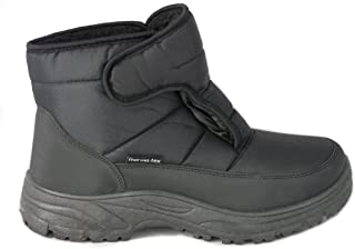 Cushion Walk Men's Thermo-TEX Fleece Lined Warm and Comfortable Snow Boots With Non-Slip Soles Size 7-11