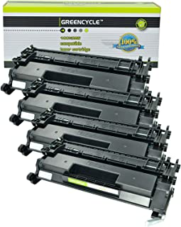 GREENCYCEL 4 Packs Replacement Compatible for HP 26A CF226A 3100 Pages Black Toner Cartridge for Laserjet Pro M402 M426 M402n M402dn M402dw MFP M426fdw MFP M426fdn M402d MFP M426dw Series Printers