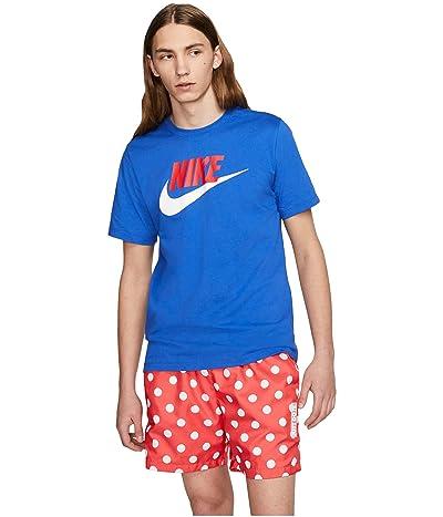 Nike NSW Icon Futura Tee (Game Royal/University Red/White) Men