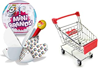 ZURU Miniature Grocery Brands 5 Surprise Collection Blind Ball Doll House Fun Smalls Bundled with + Mini Shopping Cart 2 I...