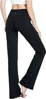 "VIGORPACE 29""/31""/33""/35""/37"" Women's Bootcut Yoga Pants Long Bootleg Flare Pants Inner Hidden Pocket"