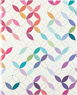 """$38 » Weekly Planner 8"""" x 10"""" 12 Month Softbound Vertical Weekly Life Planner (Jan - Dec 2022) - Colorful Mid Century Circles. D..."""