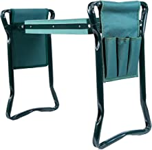 Ohuhu Garden Kneeler and Seat with 2 Bonus Tool Pouches, Foldable Garden Bench Stools,..