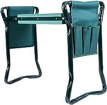 Ohuhu Garden Kneeler and Seat with 2 Bonus Tool Pouches, Foldable Garden Bench Stools, Portable Kneeler for Gardening Gardeners