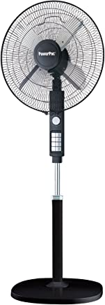 PowerPac Electric Stand Fan with Metal Blades, 18, (PPFS818)