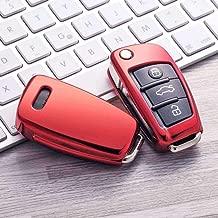 Rosa Funda de Silicona para Llave Audi Cover Carcasa de TPU Cromo Suave para Keyless Audi A1 A2 A3 A4 A5 A7 Q1 Q3 Q5 TT Protecci/ón Llaveros Mando a Distancia