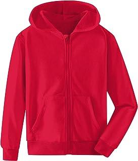 Kinberr Boys Girls Hooded Sweatshirt Unisex Kids Full Zip Hoodies Jacket Coat Tracksuit with Pockets 5-14 Years
