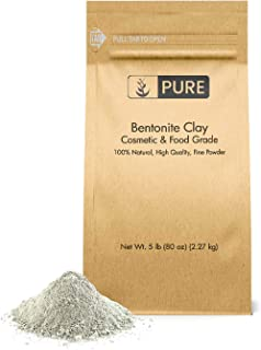Bentonite Clay (5 lb.) by Pure Organic Ingredients, Eco-Friendly Packaging, Fine Powder, Cosmetic & Food Grade, For Face Masks, Cleanses
