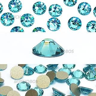 LIGHT TURQUOISE (263) green teal Swarovski NEW 2088 XIRIUS Rose 12ss 3mm flatback No-Hotfix rhinestones ss12 nail art 144 pcs (1 gross) *FREE Shipping from Mychobos (Crystal-Wholesale)*