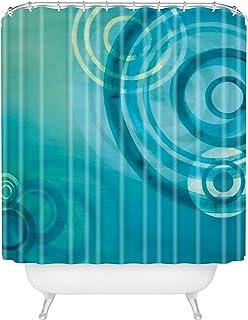 "Deny Designs Stacey Schultz Circle World Blue Shower Curtain, 69"" x 72"""