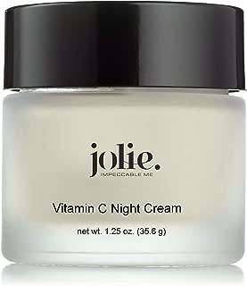 Jolie Vitamin C Night Cream, L-Ascorbic Acid Brightening Face & Neck Moisturizer With Ceramides & Antioxidants