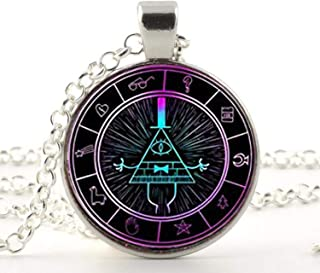 bill cipher wheel necklace