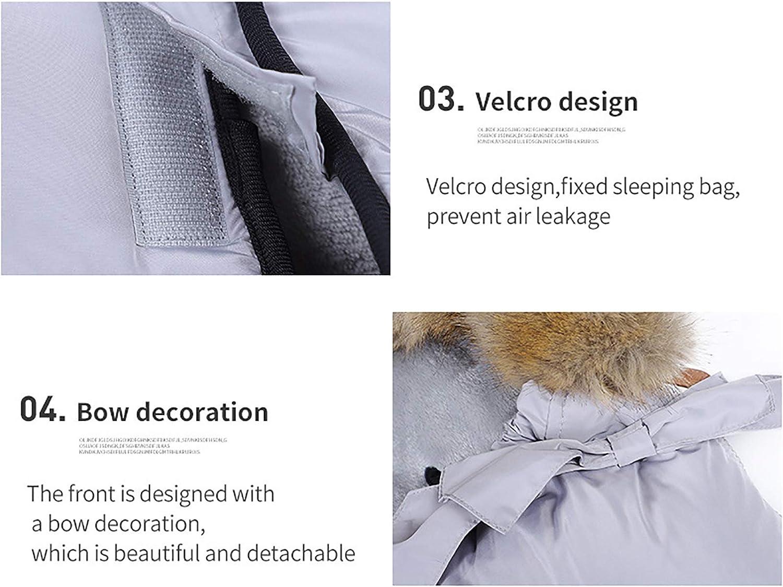 HS-LAMP Sac de Couchage Hiver Bebe, Sac de Couchage Grand Froid Double pour Enfants pour Couette Anti-Coup de Pied en Coton 4 Saisons 95 * 45 cm (Color : Gray) Gray