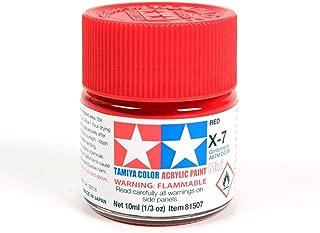 Tamiya 81507 X-7 Insignia Red Acrylic Gloss Mini - 10 ml / 0.33 Fl.Oz
