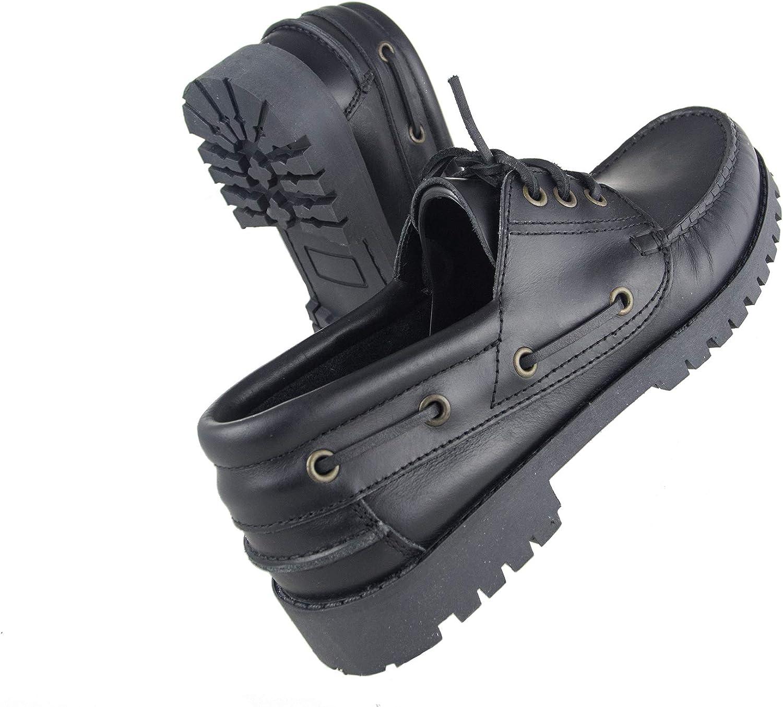Mocasines Piel Hombre Mocasines Cuero Zerimar Zapato N/áutico de Piel para Hombre Zapatos N/áuticos Ligeros