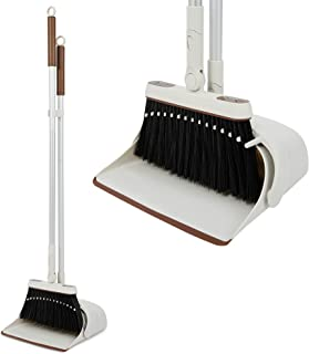 Jekayla Broom and Dustpan Set with Long Handle, Upright and Lightweight Cleaning Combo for Home Kitchen Room Office Lobby,...