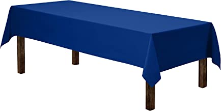 royal blue and white candy table