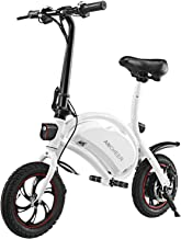 ANCHEER Folding Electric Bicycle/E-Bike/Scooter 350W Ebike with 12 Mile Range, NO APP Speed Setting