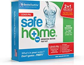 Safe Home LEAD in Drinking Water Test Kit – Our #1 Selling Kit for Testing Lead in CITY & WELL WATER – Two Samples Tested at Our EPA Certified Lab – Don't Guess…Test!