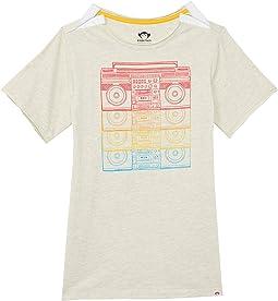 Rainbow Boombox Graphic Short Sleeve Tee (Little Kids/Big Kids)