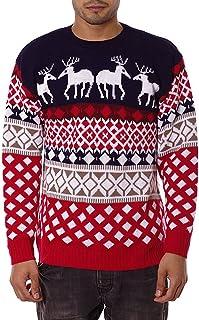 comprar comparacion NOROZE 70's Suéter Retro Navidad Prendas de Punto Jerséis Cárdigan para Hombre Unisexo