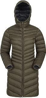 Mountain Warehouse Florence Womens Winter Long Jacket - Water Resistant Rain Coat, Lightweight Ladies Jacket, 2 Front Pockets, Warm - for Wet Weather, Walking