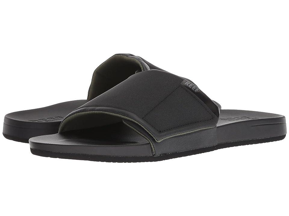 Reef Cushion Bounce Slide (Black) Men's Sandals