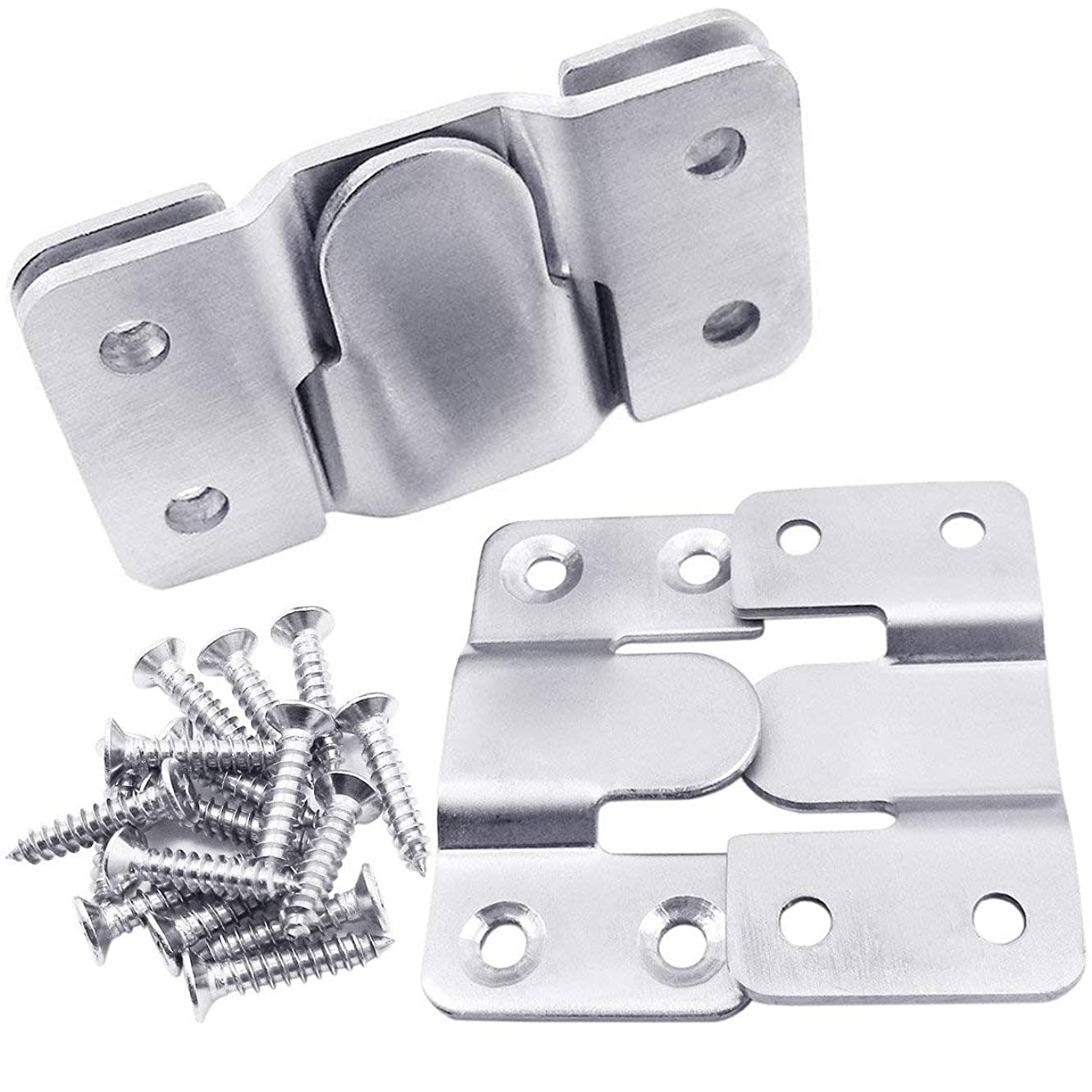 QY 4PCS 54MM Interlocking Flushmount 304 Stainless Steel Photo Frame Wall Mount Hooks for Large Picture Display Hanger Art Gallery Heavy Duty Clip