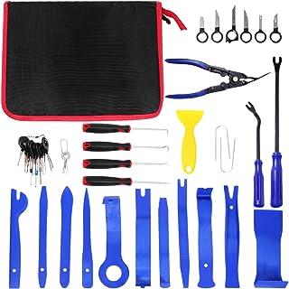 Garneck Conjunto de 41 peças de ferramentas de remoção de acabamento de carro multiuso, clipe de ferramenta para furar car...