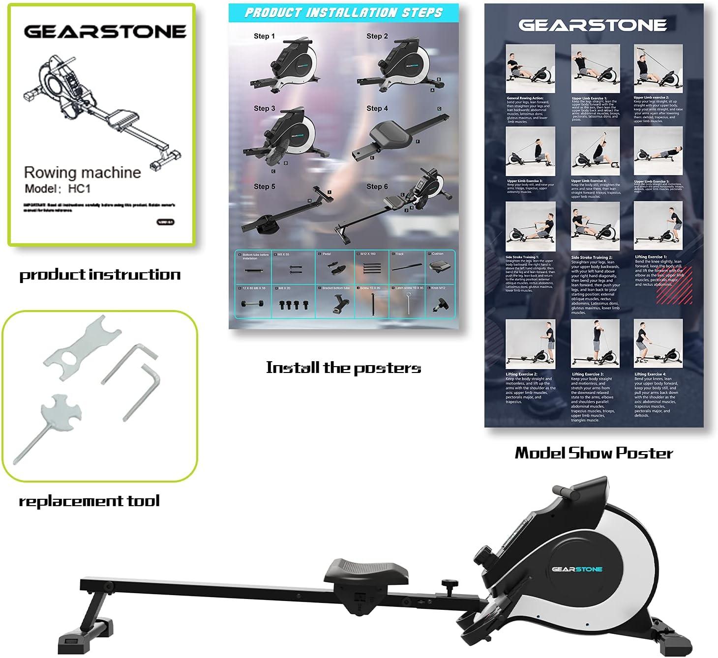 GEARSTONE HC1 Rudergerät Trainingsmöglichkeiten