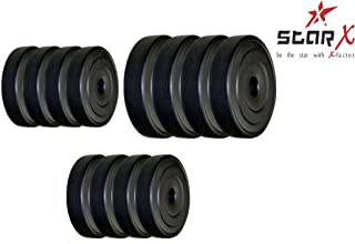Star X Home Gym Exercise Set of PVC Weights