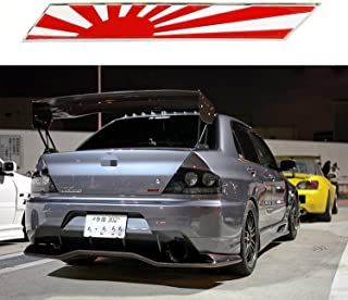 1x JDM Japan Rising Sun Flag Emblem Plate Badge For Front Grille Side Fender Trunk
