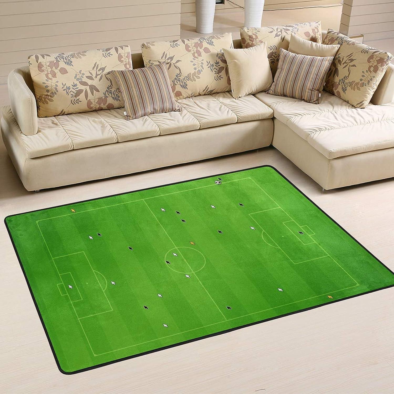 DEZIRO Football Field Polyester Funny Doormat Area Rug Entry Way Floor Mats Home Dec shoes Scraper Anti-Slip Washable