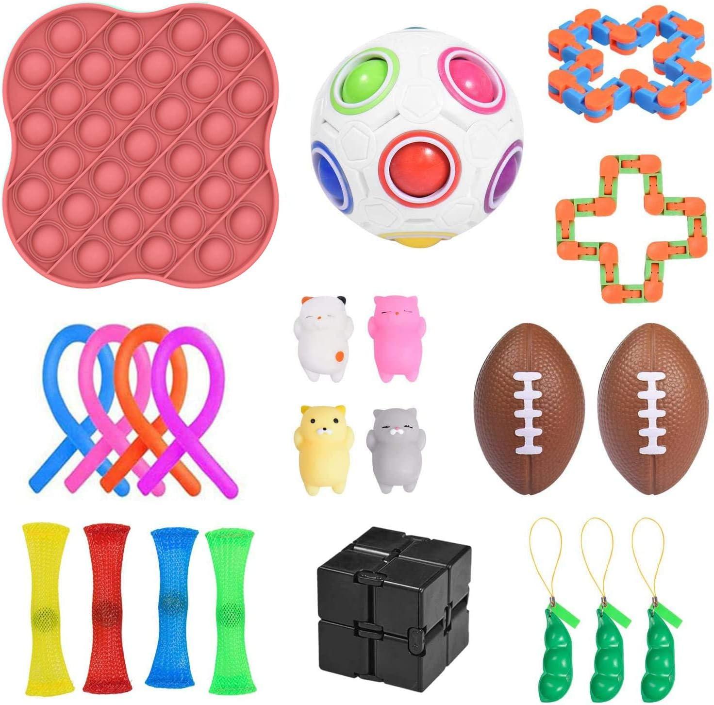 Set-A Sensory Fidget Toys Set Bundle for Children Adultes Stress Relief and Anti-Anxiety Hand Toys Une gamme sp/éciale de jouets pour les f/êtes danniversaire favorise les cadeaux