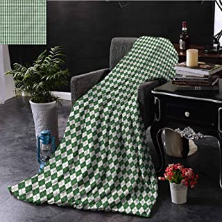 SSKJTC Christmas Chenille Throw Blanket Retro Argyle Bedroom Dorm Sofa Baby Cot Beach W50 xL60