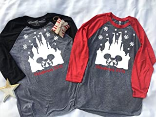 Handmade Christmas Family Disney world shirts, Snowflake Castle with Christmas 2018 below, Disney Family Shirts, Matching Family Disney Shirts, Personalized Disney Shirts for Family