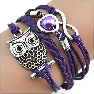 Bracelet, Infinity Chain Cuff Jewelry Antique PU Leather Bracelet Charm