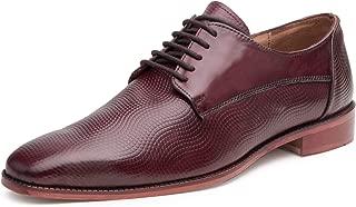 Escaro Everyday Wear Men's Leather Wine Formal Derby Shoes