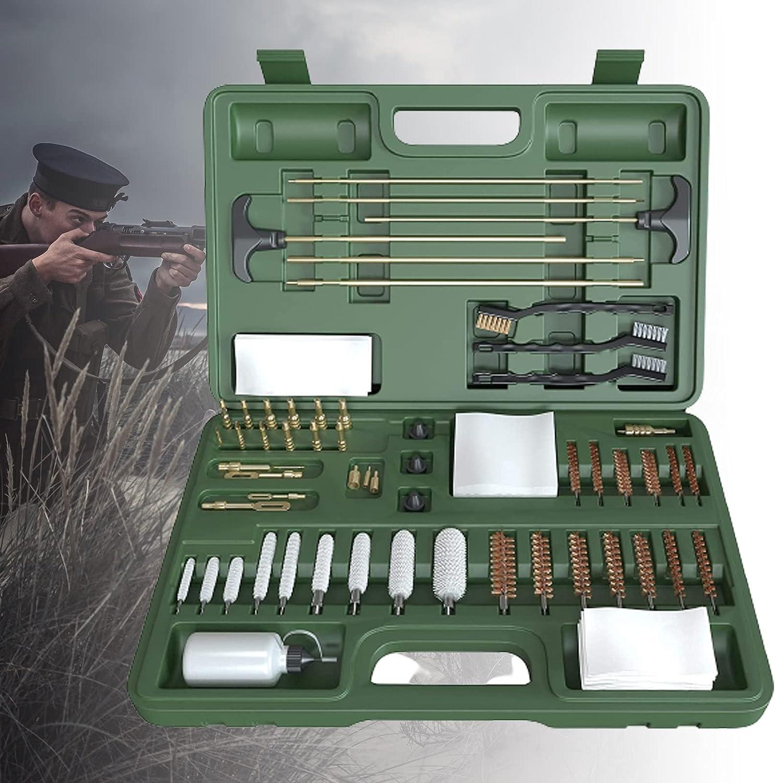 ZPCSAWA Kit de Limpieza de Pistola Universal para Pistola,Bolsa de Rango Portátil Compacta con Latón,Puntas,Cepillo,Varillas y Selección de Limpieza de Pistola