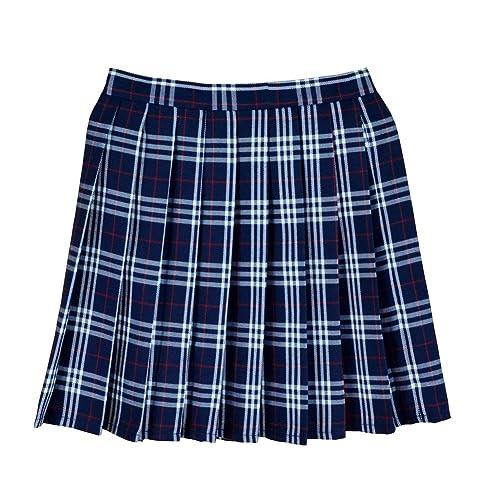 635d5facde Women School Uniforms plaid Pleated Mini Skirt