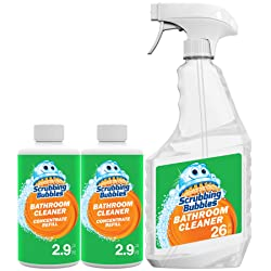 Scrubbing Bubbles Bathroom Cleaner Concentrate Starter Pack, Two 2.9 Oz Concentrated Bottles & One R