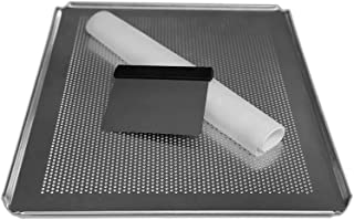 LEHRMANN Kit de pâtisserie - Plaque de cuisson perforée 45,5 x 37,5 cm - Tapis en silicone - Spatule en acier inoxydable -...