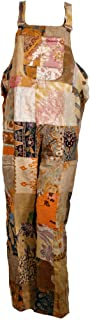 Fair Trade Patchwork Dungarees with Real Old Batik Patches by Terrapin