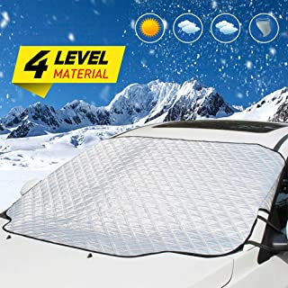 UBEGOOD Windshield Snow Cover & Sun Shade Protector, Car Front Windscreen Guard Covers for Most Weather Winter Summer, Fits Most of Car & SUVs (72